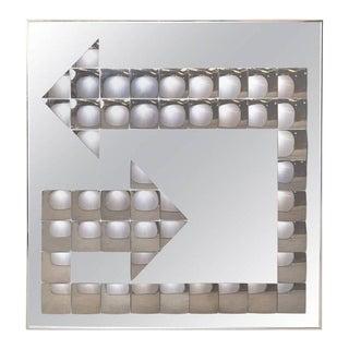 Large Turner Mid-Century Pop Art Bubble Arrow Mirror