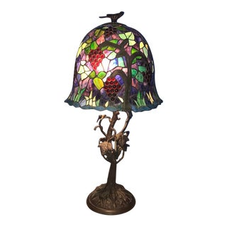 Massive Grapevine Pattern Table Lamp For Sale