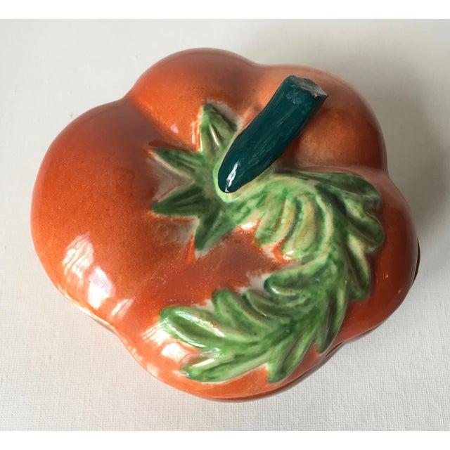 Vintage Italian Ceramic Tomato Box For Sale In New York - Image 6 of 10