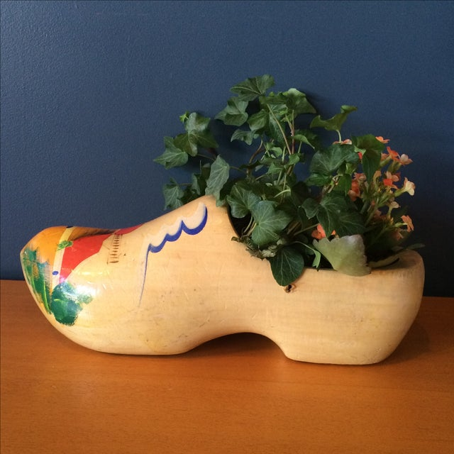 Dutch Wood Clog Planter - Image 2 of 6