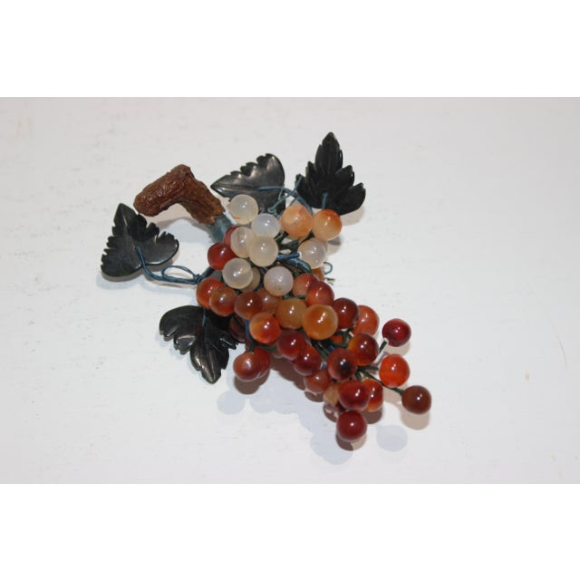 1960s Vintage Apricot/Amber Quartz Mini Grape Cluster For Sale - Image 5 of 5
