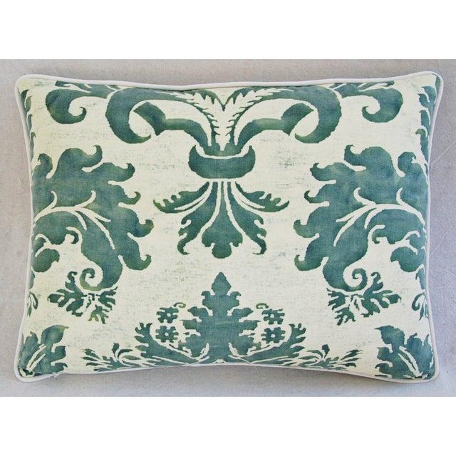 Designer Italian Fortuny Glicine & Velvet Pillow - Image 6 of 6