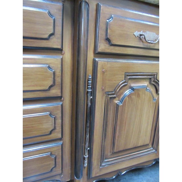 French Traditions Marble Top Buffet - Image 7 of 10