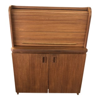 Danish Teak Rolltop Desk For Sale