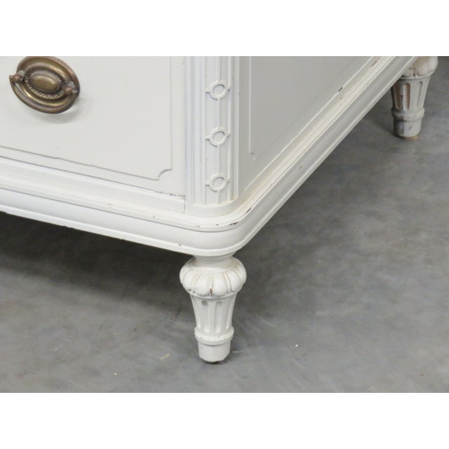 Cream Painted Carved Cabinets - Pair - Image 3 of 10