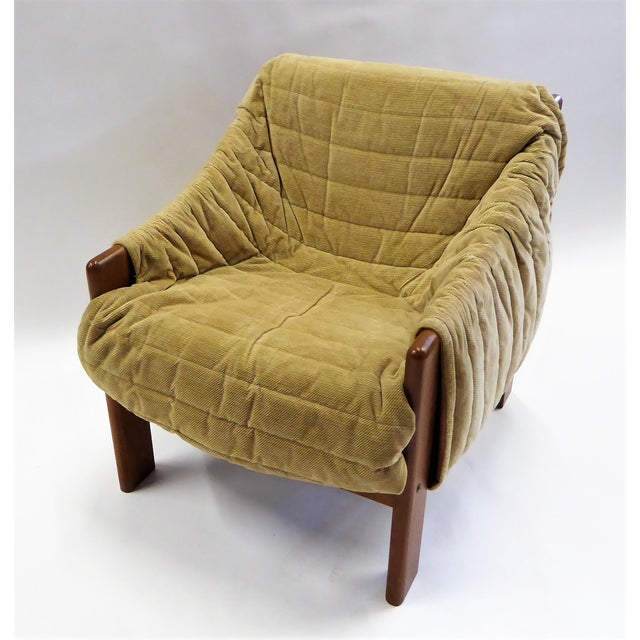 1970s Domino Mobler Danish Modern Solid Teak Lounge Chair For Sale - Image 13 of 13