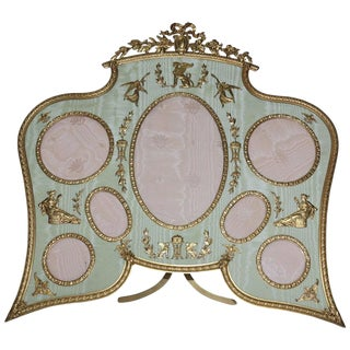 19th Century Antique French Bronze Ormolu Frame For Sale