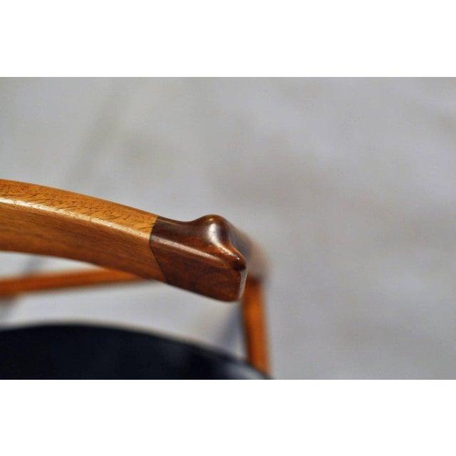 Animal Skin 1960s Henry Rosengren Hansen Model 39 Teak & Leather Dining Chairs - Set of 4 For Sale - Image 7 of 9