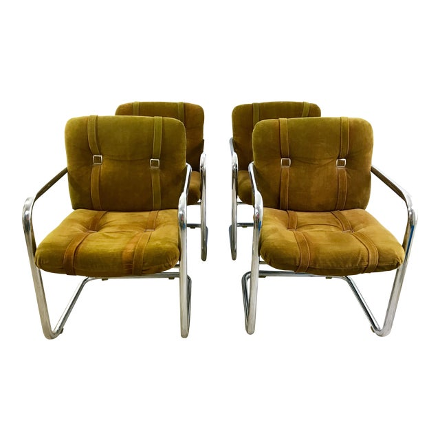 Vintage Chromcraft Cantilever Dining Chairs