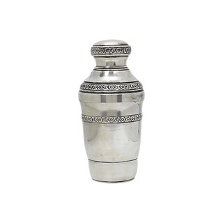 Antique English Silver-Plate Cocktail Shaker For Sale