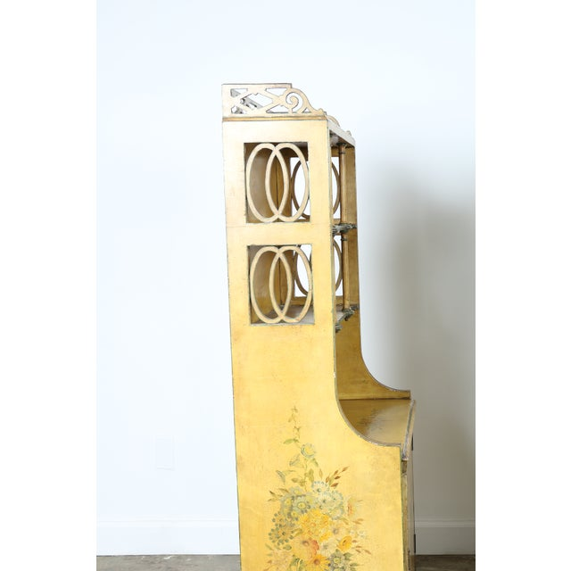 Hand-Painted Yellow Cabinet - Image 6 of 11