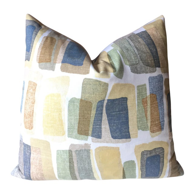 Mid-Century Stonehenge Abstract Pillow Cover - Image 1 of 3
