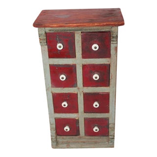 19th Century Original Painted Spice Box from Maine For Sale