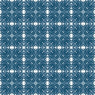French Lace 'Indigo' Premium Matte Wallpaper Roll For Sale