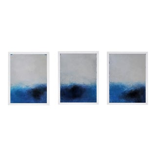 Trio of Framed Abstracts on Canvas by C. Damien Fox. For Sale