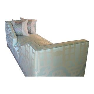 Wesley Hall Mint Social Sofa For Sale