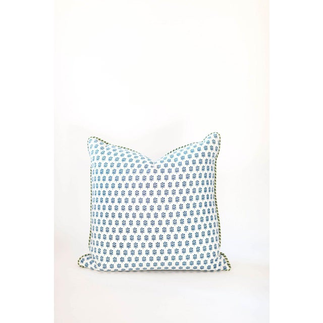 "Dandy Block Print Pillow - 22x22"" For Sale - Image 4 of 4"