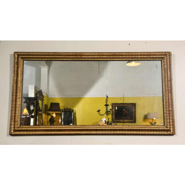 Gilt Gold Fluted Border Mirror - Image 4 of 4