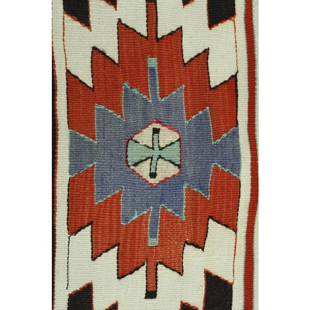 "Vintage Turkish Kilim Runner-3'5'x10'11"" For Sale - Image 9 of 13"