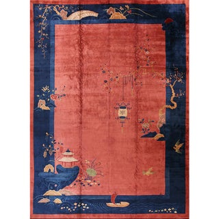 1920s Chinese Antique Art Deco Rug- 10′9″ × 16′4″ For Sale