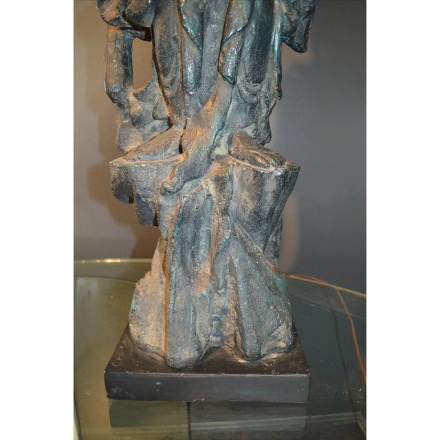Chinese Bronze Goddess Lamp - Image 9 of 9
