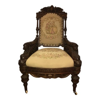 German Hand Carved Chair