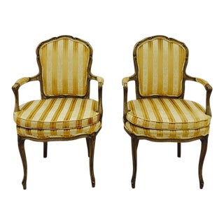 French Louis Arm Chairs- A Pair