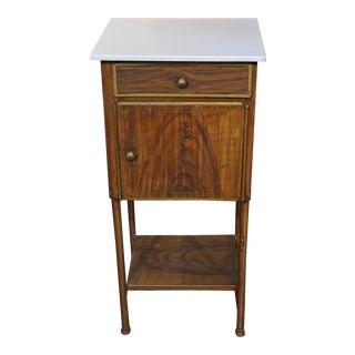 Late 19th Century French Tole Bedside Table For Sale
