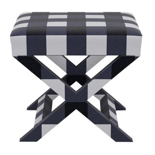 X Bench in Navy Check For Sale