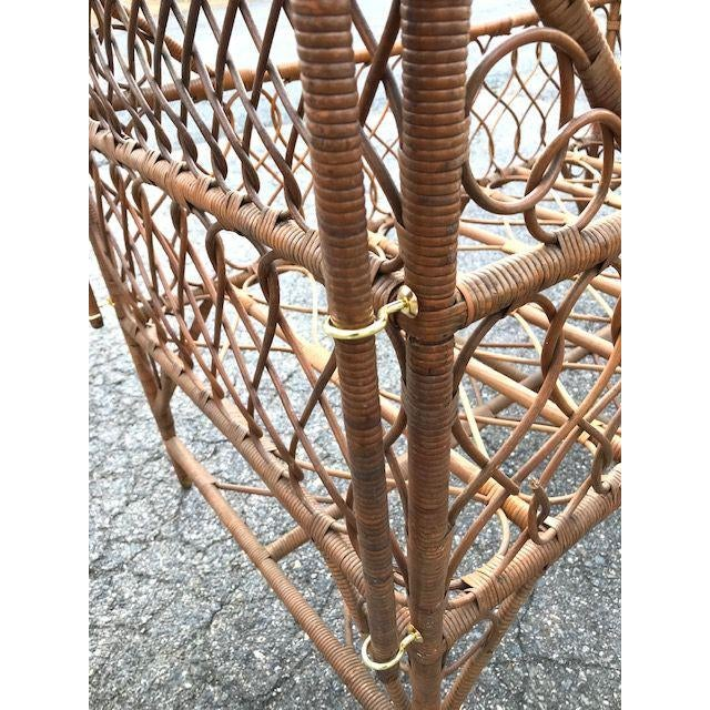 Wicker Antique Victorian Wicker Youth Bed With Quarter Canopy Bed by Heywood Brothers Gardner Ma For Sale - Image 7 of 13