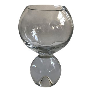 Contemporary Glass Ball Footed Vase For Sale