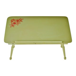Mid Century Painted Wood Adjustable Breakfast Tray For Sale