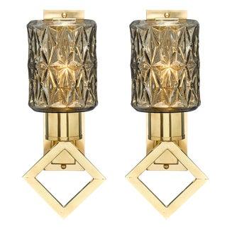 Modernist Diamond Murano Glass Sconces For Sale