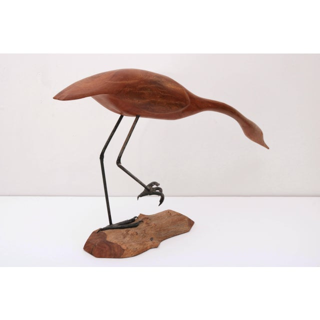 """1970s Hand-Carved """"Sandpiper"""" by American Wood Carver Norman Pruitt, Circa 1970 For Sale - Image 5 of 11"""