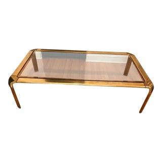 Widdicomb Brass & Glass Waterfall Coffee Table