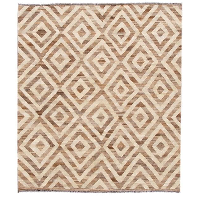 21st Century Modern Kilim Wool Rug For Sale - Image 12 of 12