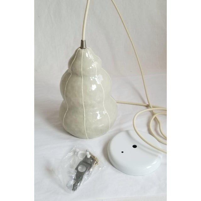 Ceramic Modern Handmade kRI kRI Studio Ceramic Gray Pendant Light For Sale - Image 7 of 9