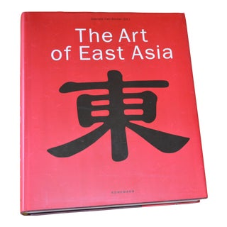 """The Art of East Asia"" Hardcover Dust Jacket Book Koenemann Coffee Table Book Red For Sale"