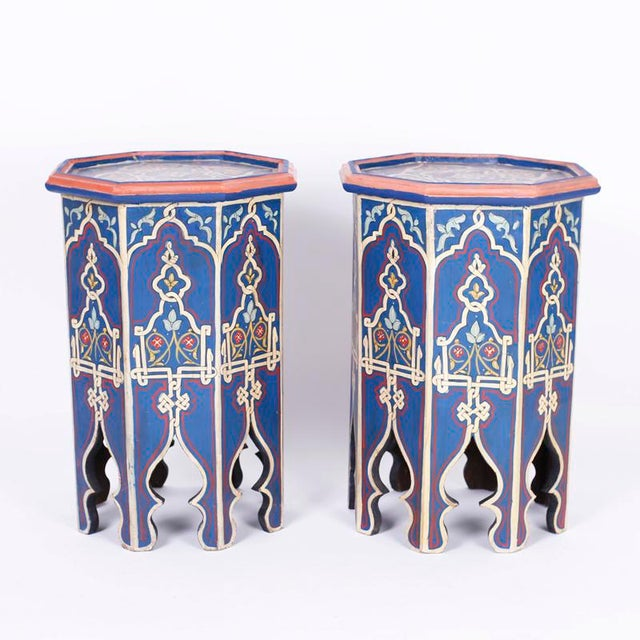 Antique Moorish Painted Stands - a Pair For Sale - Image 10 of 10