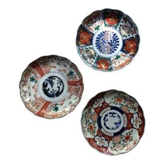 Antique Imari Plates - Set of 3 For Sale