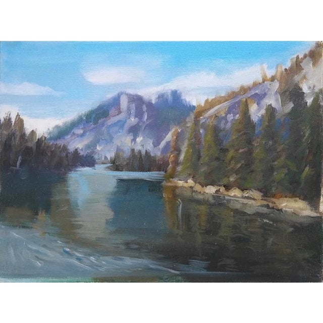 Paula McCarty Lake Landscape Painting For Sale