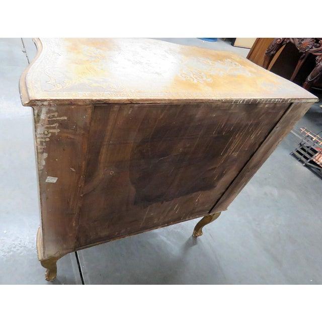 Vintage Florentine distressed painted 2 drawer commode.