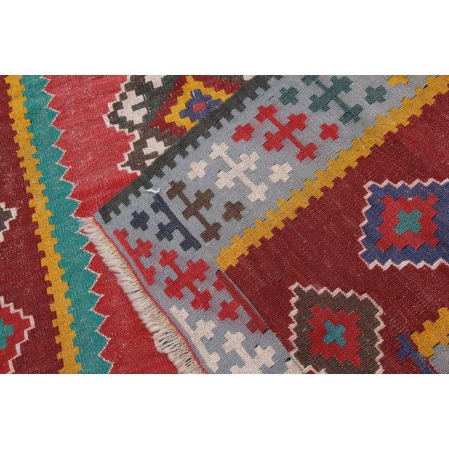 Textile Antique Turkish Wool Kilim Rug - 4′5″ × 6′3″ For Sale - Image 7 of 7