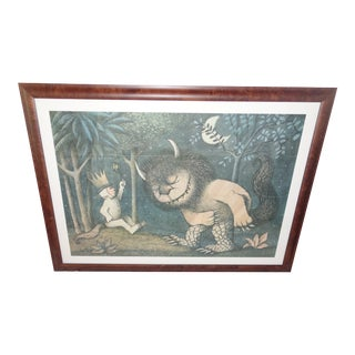1969 Maurice Sendak Where the Wild Things Are Large Print - Framed For Sale