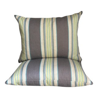 Espadrille Stripe Pillows Covers - a Pair For Sale