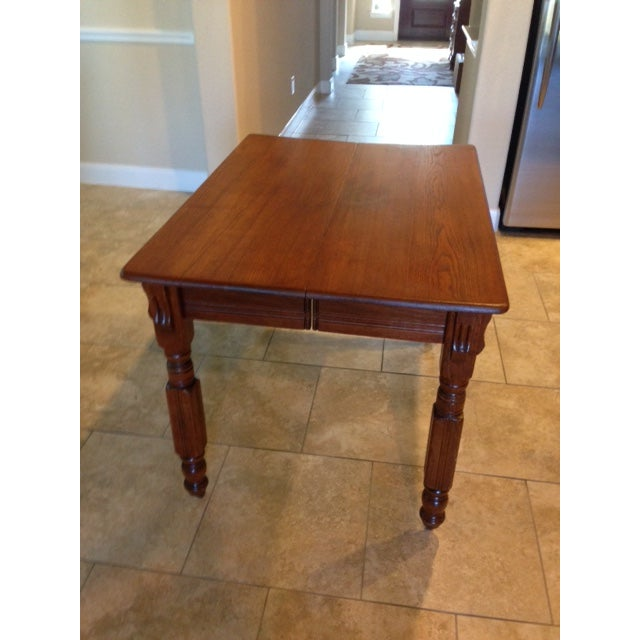 Antique 1900s Solid Wood Dining Table - Image 3 of 6