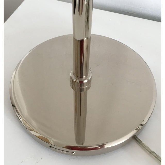 Ralph Lauren Polished Nickel Floor Lamps - A Pair - Image 4 of 10