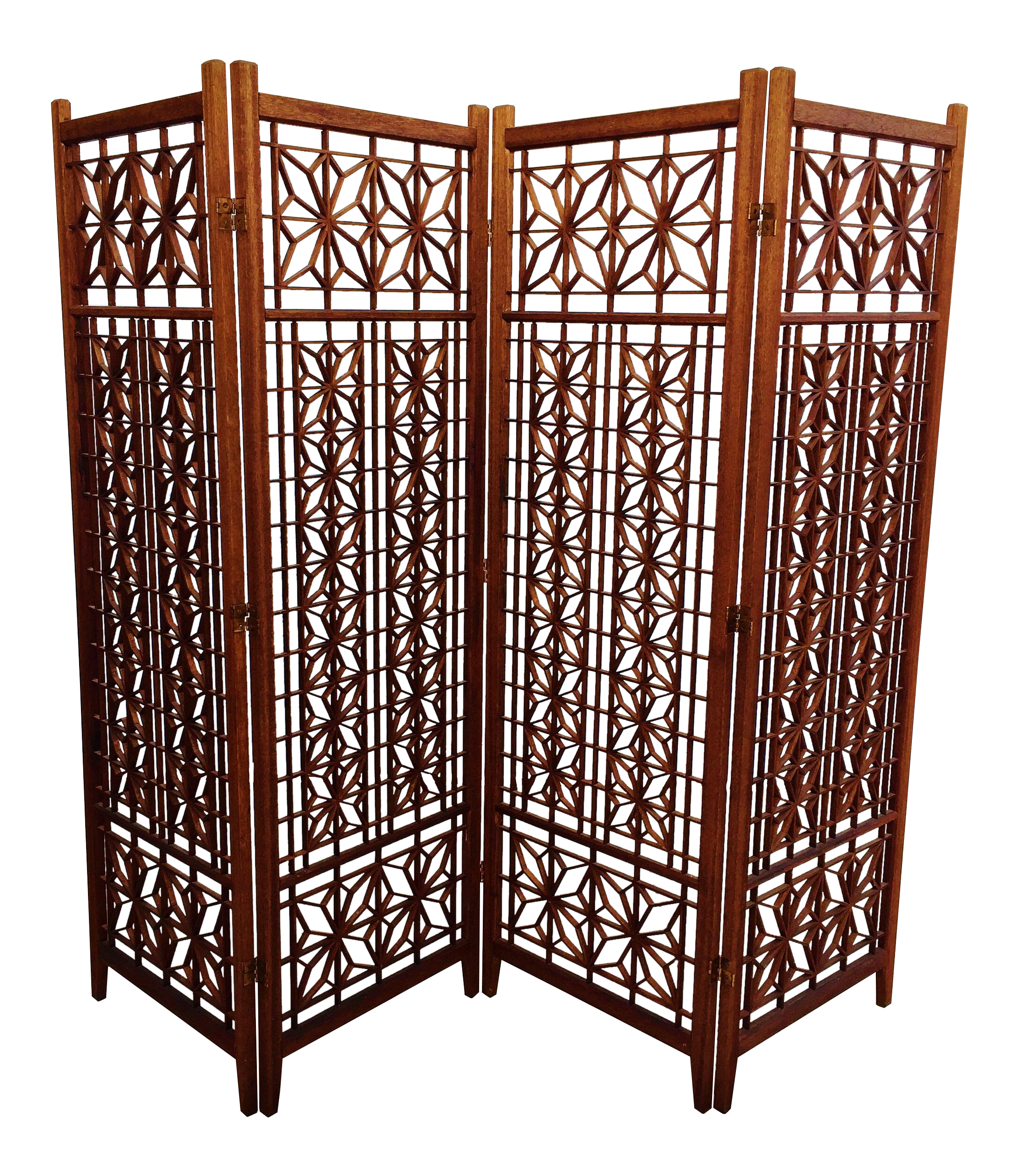 Geometric Wood Room Divider Screen Chairish