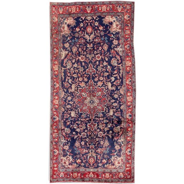 "Vintage Persian Hamadan Rug, 4'4"" X 9'3"" For Sale - Image 4 of 4"