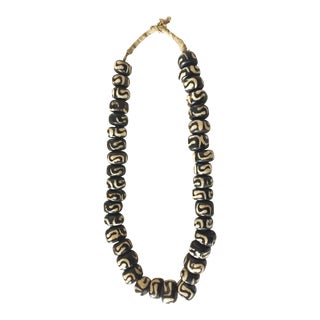 "African Jumbo Bone Trading Beads 28"" L For Sale"